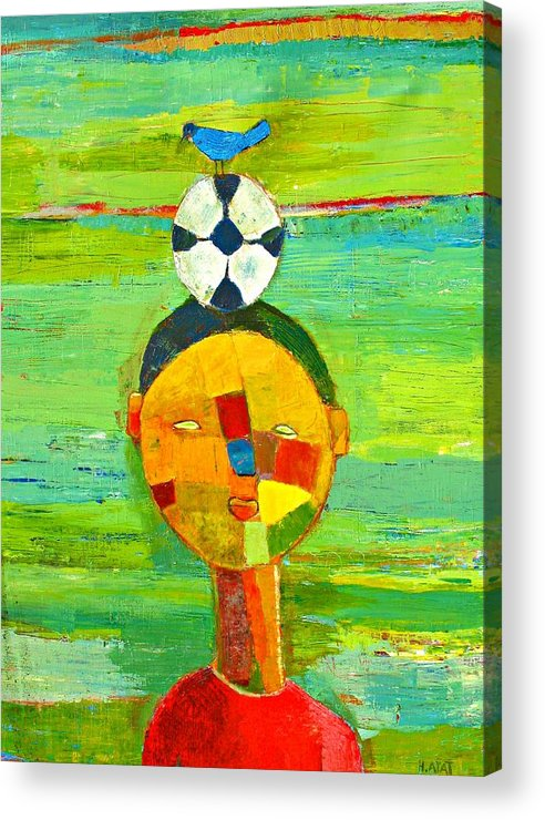 Childhood Acrylic Print featuring the painting Childhood memories by Habib Ayat
