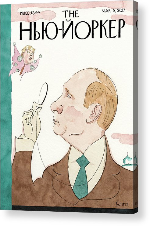 Eustace Tilley Acrylic Print featuring the painting Eustace Vladimirovich Tilley by Barry Blitt