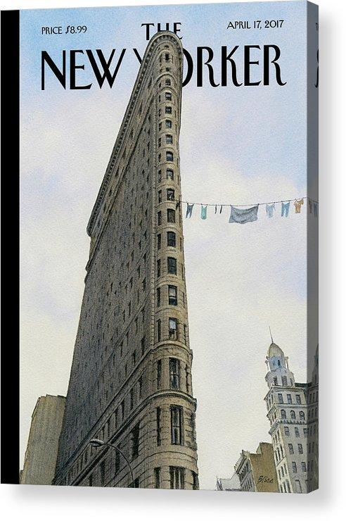 Fashion District Acrylic Print featuring the painting Fashion District by Harry Bliss