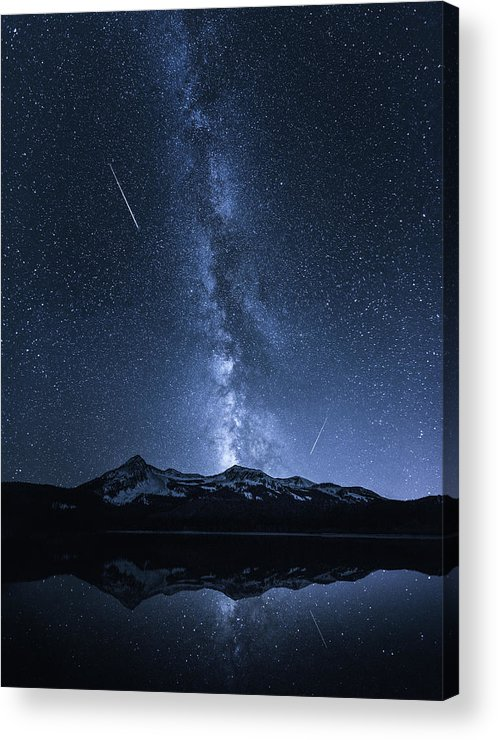 Colorado Acrylic Print featuring the photograph Galaxies Reflection by Toby Harriman