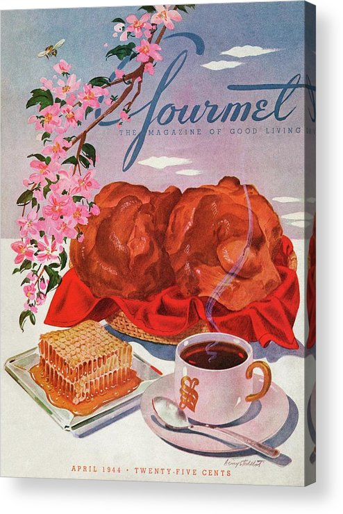 Food Acrylic Print featuring the photograph Gourmet Cover Illustration Of A Basket Of Popovers by Henry Stahlhut