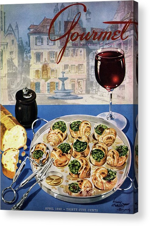 Food Acrylic Print featuring the photograph Gourmet Cover Illustration Of A Platter by Henry Stahlhut