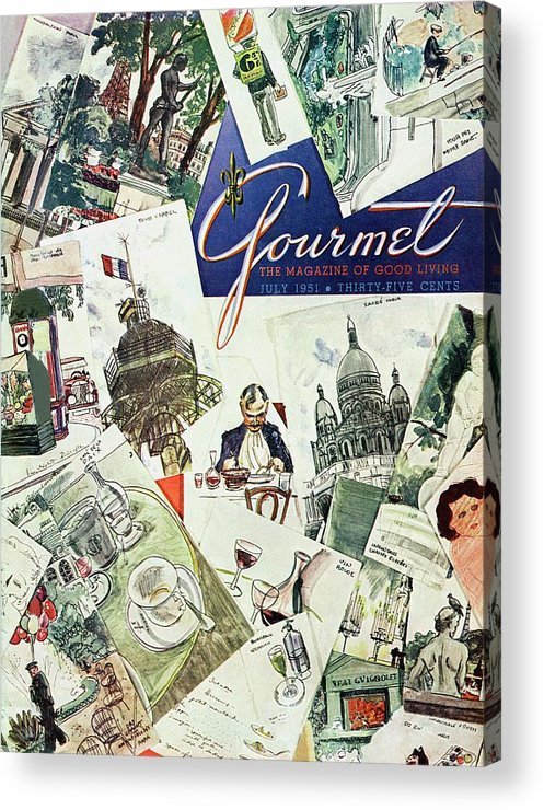 Illustration Acrylic Print featuring the photograph Gourmet Cover Illustration Of Drawings Portraying by Henry Stahlhut