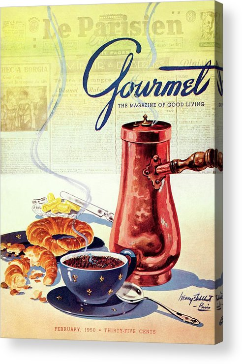 Food Acrylic Print featuring the photograph Gourmet Cover Of A French Breakfast by Henry Stahlhut