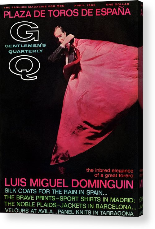 Fashion Acrylic Print featuring the photograph Gq Cover Featuring Miguel Dominguin by Carl Fischer