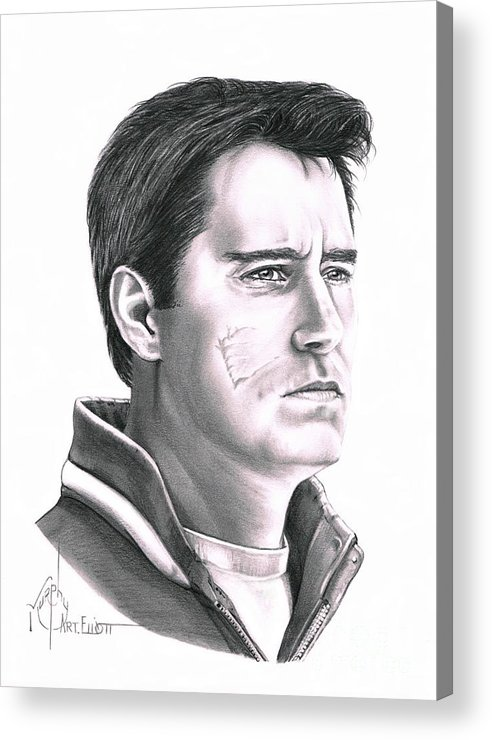 Pencil Acrylic Print featuring the drawing Guy Boucher by Murphy Elliott