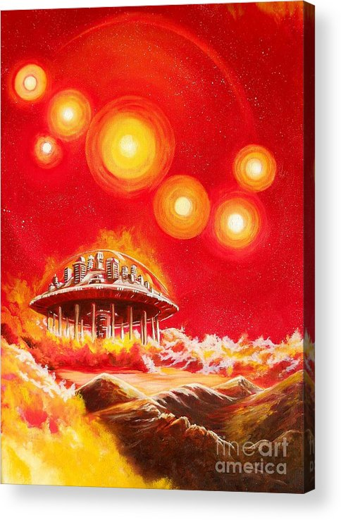 House Acrylic Print featuring the painting House of the Rising Suns by Murphy Elliott