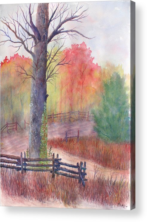 Fall Acrylic Print featuring the painting Joy of Fall by Ben Kiger