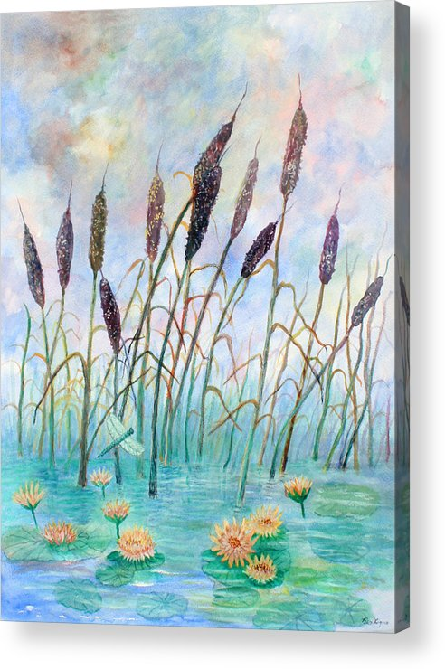 Pond Acrylic Print featuring the painting Joy Of Summer by Ben Kiger