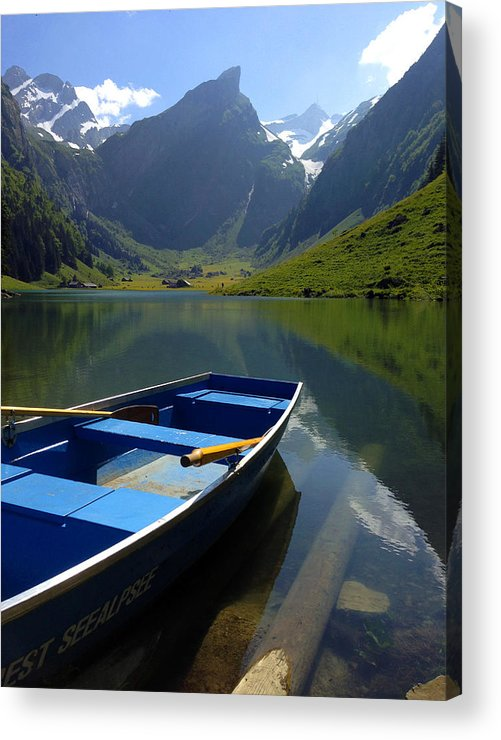 Seealpsee Acrylic Print featuring the photograph Lake Seealpsee Alpstein Canton Appenzell Switzerland by PIXELS XPOSED Ralph A Ledergerber Photography