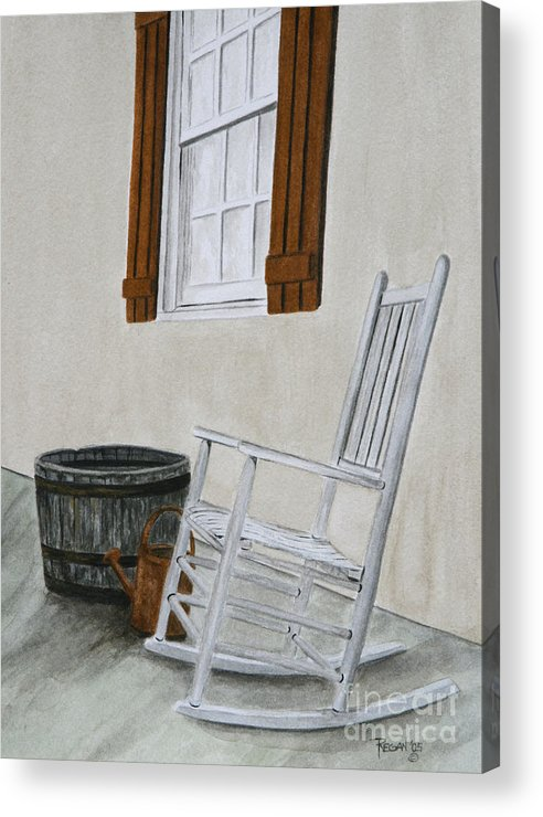 Americana Acrylic Print featuring the painting Lazy Day by Regan J Smith