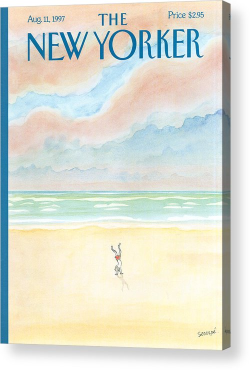 Child Acrylic Print featuring the painting Les Pieds Sur Terre by Jean-Jacques Sempe