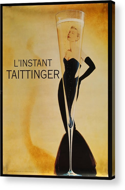 L'instant Taittanger Acrylic Print featuring the digital art L'Instant Taittinger by Georgia Fowler