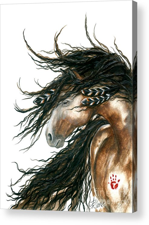 Horse Acrylic Print featuring the painting Majestic Pinto Horse 80 by AmyLyn Bihrle