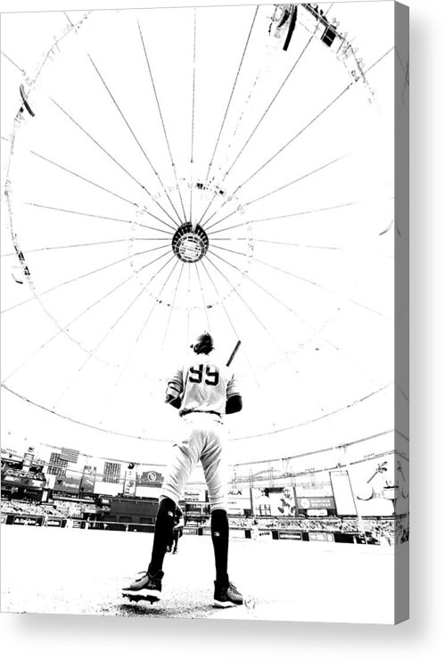 People Acrylic Print featuring the photograph New York Yankees v Tampa Bay Rays by Mike Ehrmann