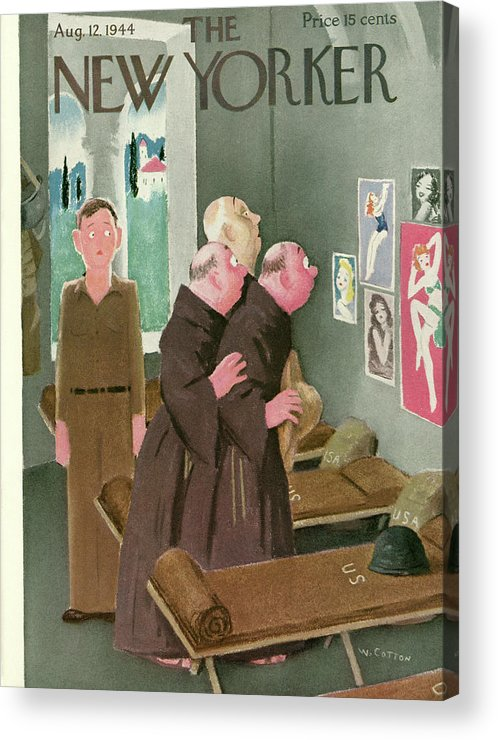 Military Acrylic Print featuring the painting New Yorker August 12, 1944 by Will Cotton