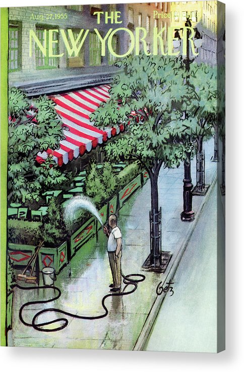 Restaurant Acrylic Print featuring the painting New Yorker August 27th, 1955 by Arthur Getz