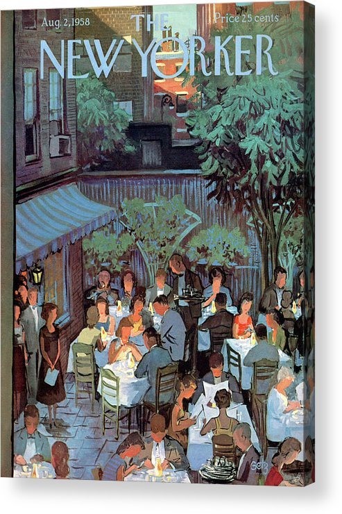 Arthur Getz Agt Acrylic Print featuring the painting New Yorker August 2nd, 1958 by Arthur Getz