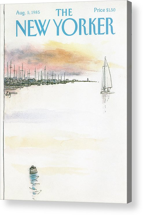 Nature Acrylic Print featuring the painting New Yorker August 5th, 1985 by Arthur Getz