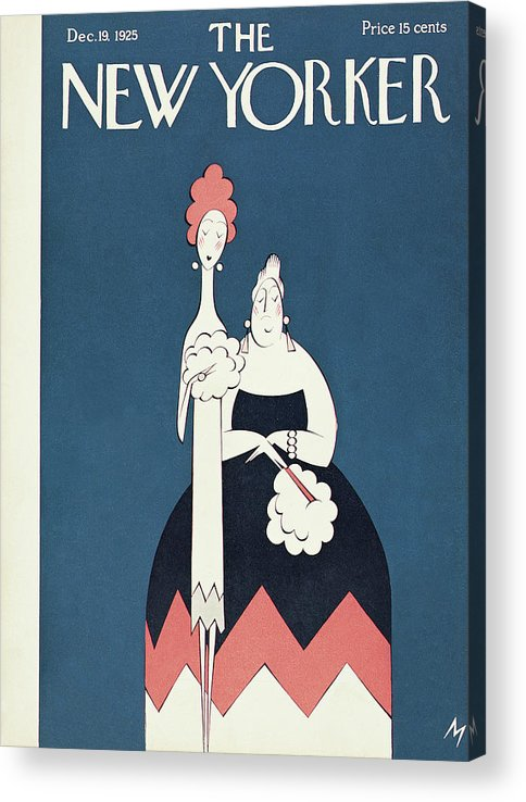 Art Deco Acrylic Print featuring the painting New Yorker December 19th, 1925 by Julian de Miskey