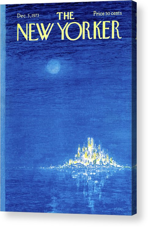 Robert Weber Acrylic Print featuring the painting New Yorker December 3rd, 1973 by Robert Weber
