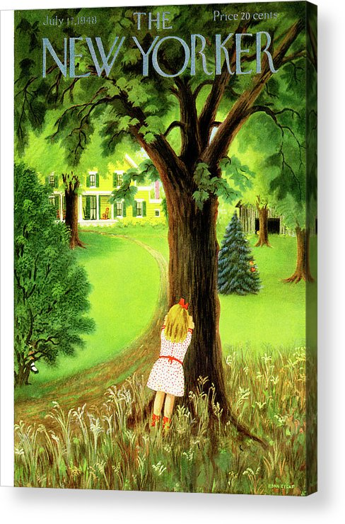 Kid Acrylic Print featuring the painting New Yorker July 17th, 1948 by Edna Eicke