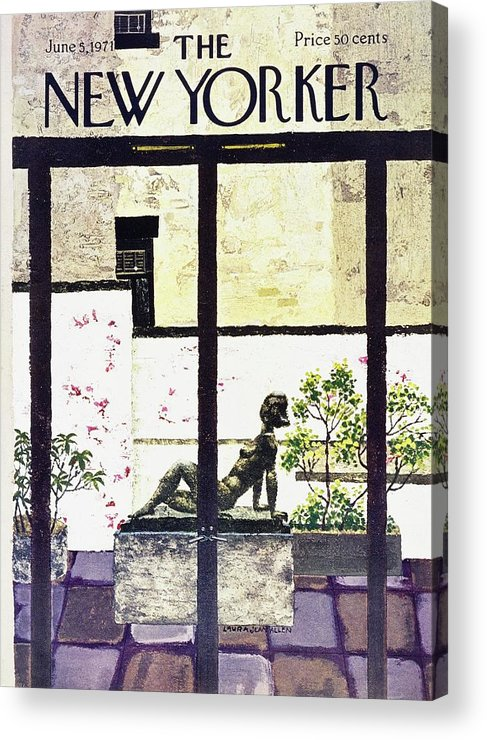 Illustration Acrylic Print featuring the painting New Yorker June 5th 1971 by Laura Jean Allen