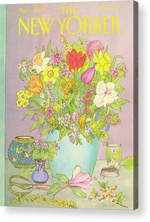 Household Acrylic Print featuring the painting New Yorker May 25th, 1981 by Jenni Oliver