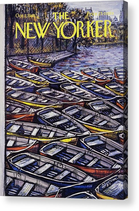 Illustration Acrylic Print featuring the painting New Yorker October 2nd 1965 by Donald Higgins