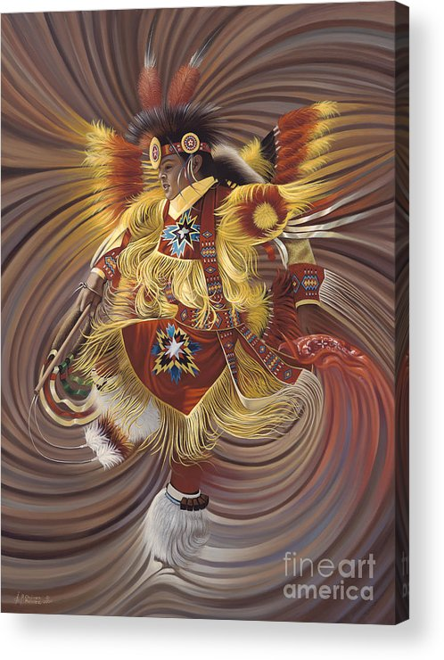 Sacred Acrylic Print featuring the painting On Sacred Ground Series 4 by Ricardo Chavez-Mendez