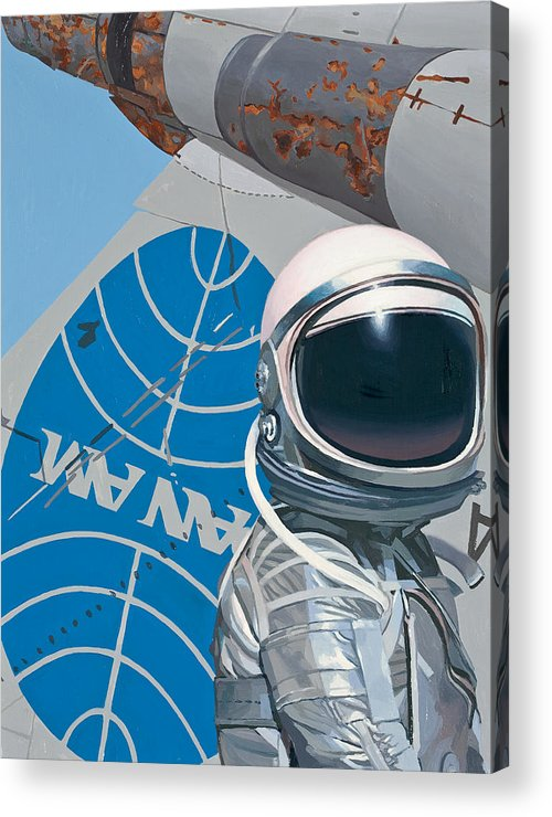 Art Acrylic Print featuring the painting Pan Am by Scott Listfield