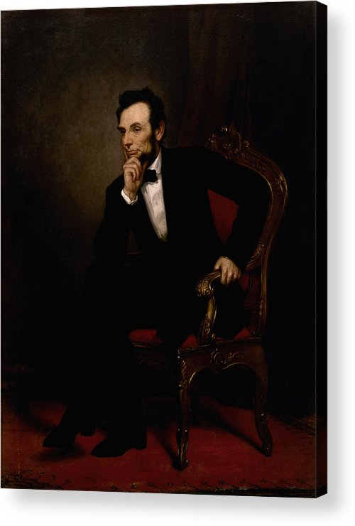 Abraham Lincoln Acrylic Print featuring the painting President Lincoln by War Is Hell Store