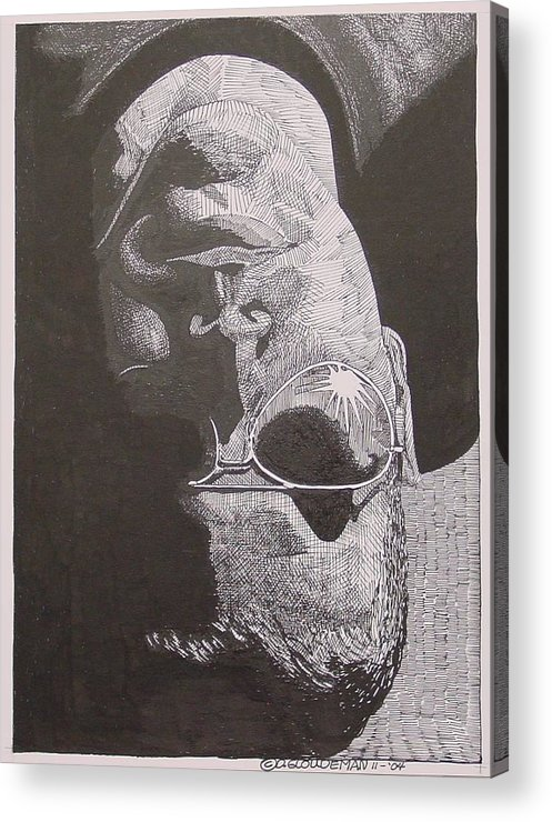 Portraiture Acrylic Print featuring the drawing Reflection by Denis Gloudeman