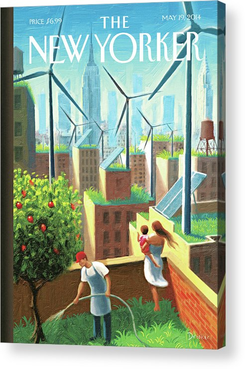 New York City Acrylic Print featuring the painting A Bright Future by Eric Drooker