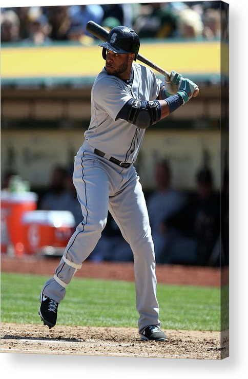 American League Baseball Acrylic Print featuring the photograph Seattle Mariners Vs. Oakland Athletics by Brad Mangin