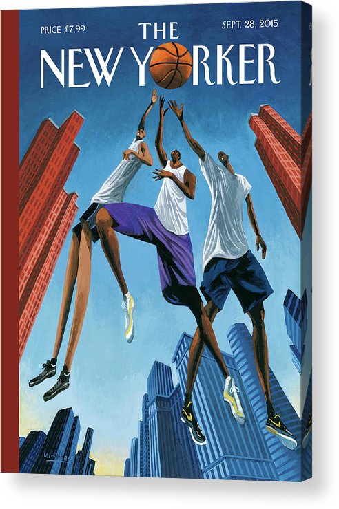 Basketball Acrylic Print featuring the painting Streetball by Mark Ulriksen