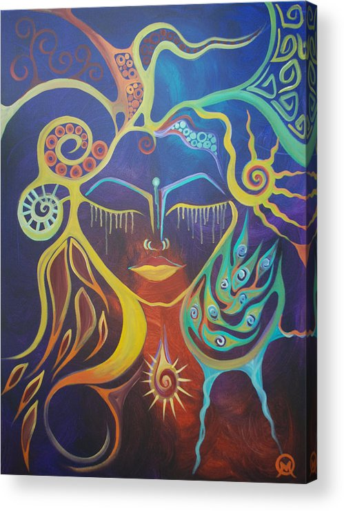 Woman Acrylic Print featuring the painting The Gem by Michelle Oravitz