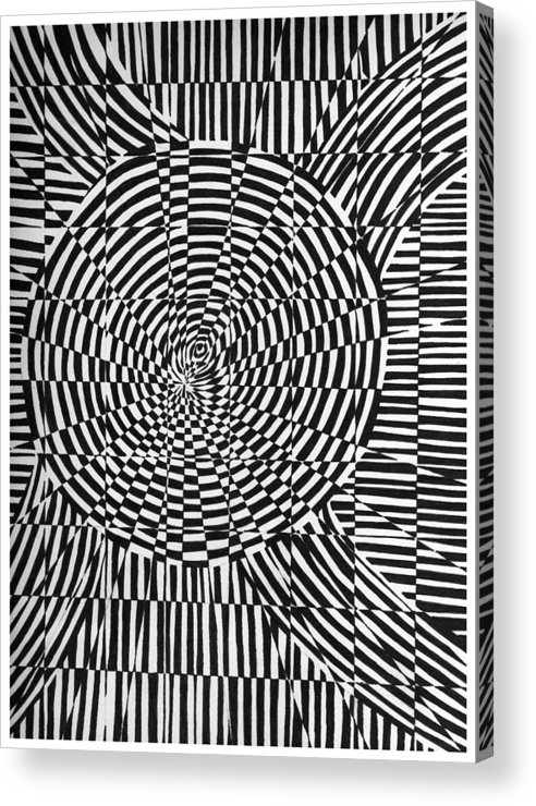 Abstract Acrylic Print featuring the drawing Unraveled by Crystal Hubbard