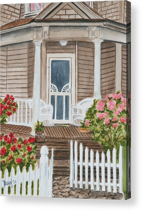 Architecture Acrylic Print featuring the painting Welcome by Regan J Smith