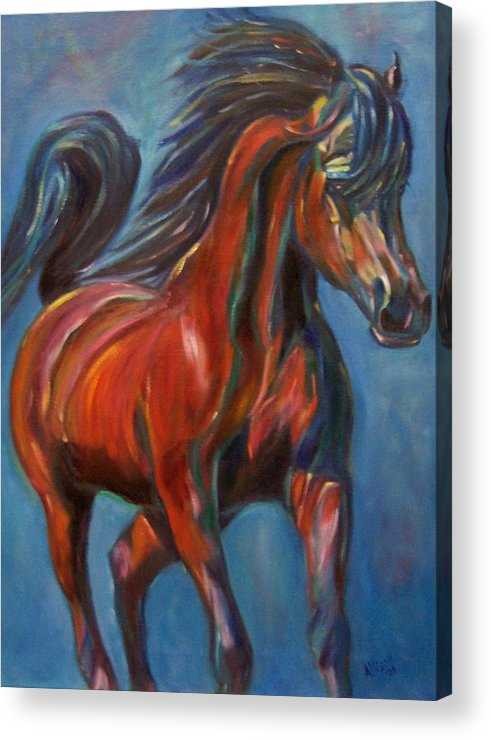 Horse Acrylic Print featuring the painting Windstalker by Stephanie Allison
