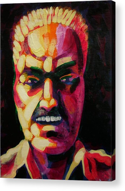 Figurative Expressionism Acrylic Print featuring the painting Getting Loosened Up by Charles Peck