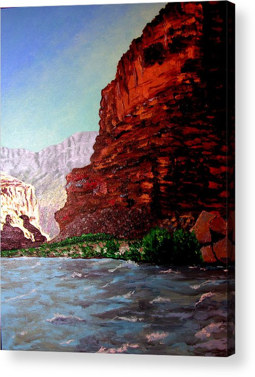 Grand Canyon Acrylic Print featuring the painting Grand Canyon II by Stan Hamilton