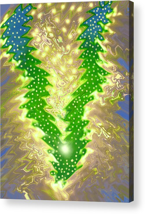 Moveonart! Digital Gallery Acrylic Print featuring the digital art MoveOnArt Christmas 2009 Collection Victory Tree by Jacob Kanduch