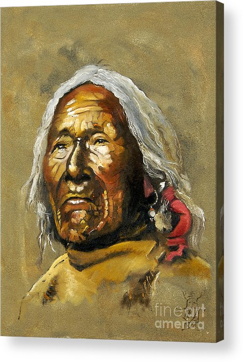 Southwest Art Acrylic Print featuring the painting Painted sands of time by J W Baker