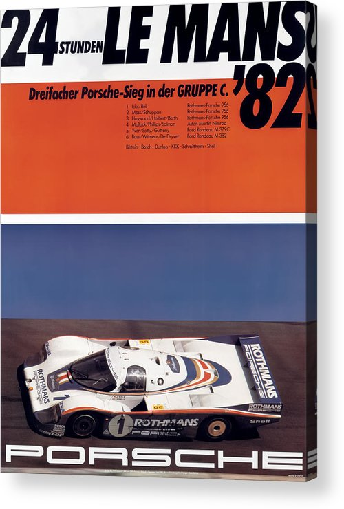 24 Hours Of Le Mans Acrylic Print featuring the photograph 1982 24hr Le Mans by Georgia Fowler