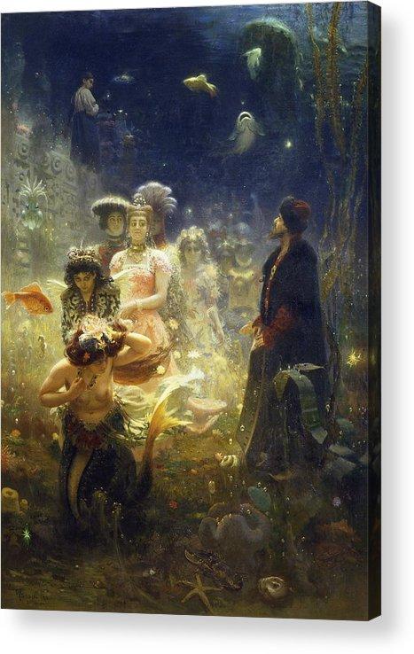 Ilya Repin Acrylic Print featuring the painting Sadko by Ilya Repin