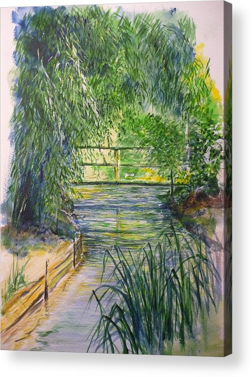 Giverny Acrylic Print featuring the painting A day at Giverny by Lizzy Forrester