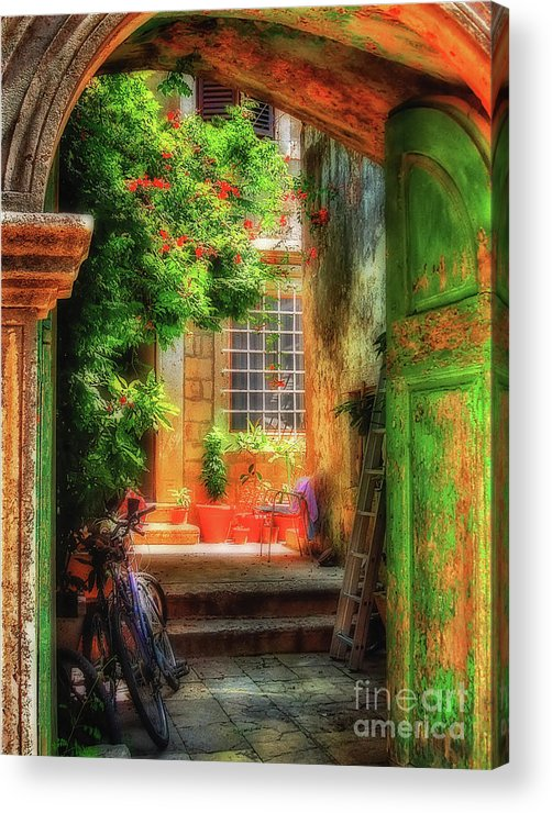 Doorway Acrylic Print featuring the photograph A Glimpse by Lois Bryan