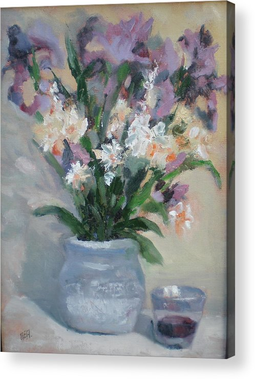 Still Life. Awarded Blue Ribbon At July 2007 Acrylic Print featuring the painting A Toast To Rose by Bryan Alexander