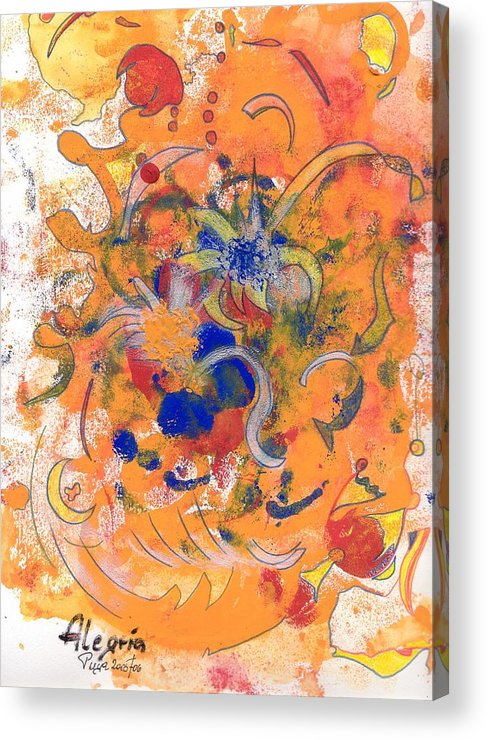 Alegria Acrylic Print featuring the mixed media Alegria by Michael Puya
